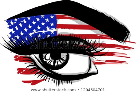 Nap gyönyörű Egyesült Államok vektor kék piros Stock fotó © bharat