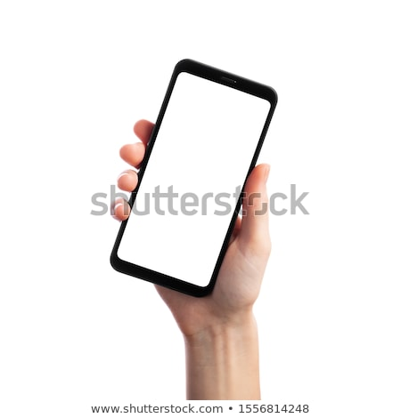 business woman holding a cell phone stock photo © adam121