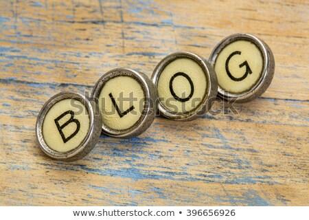 Stock fotó: Blog On Old Typewriters Keys
