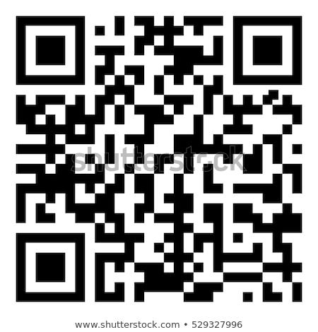 Código qr etiqueta ilustración aislado negocios ordenador Foto stock © smarques27