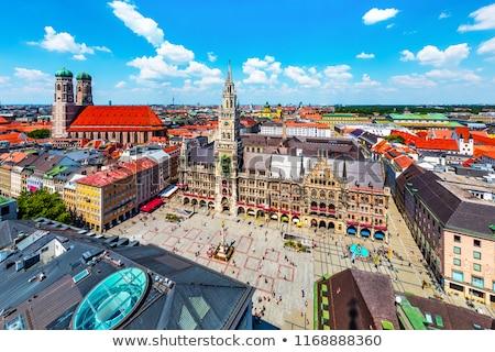 munich gothic city hall at marienplatz bavaria germany stock photo © bertl123