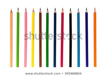 Bunch of colourful pencil crayons on white Stock photo © juniart