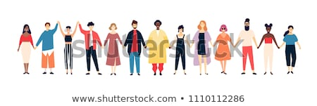 group of people holding hands isolated stock photo © kirill_m