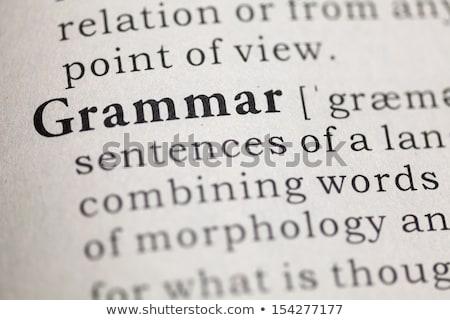 Stok fotoğraf: Grammar Dictionary Definition