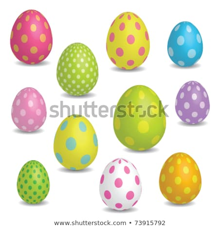 Seamless pattern of color easter eggs stock photo © elenapro