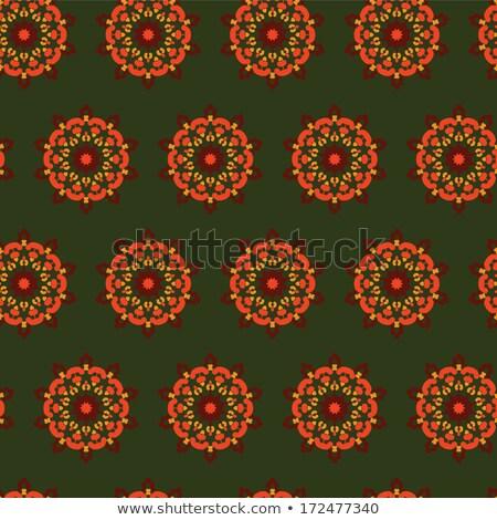 sombre · vert · floral · vintage · vecteur - photo stock © heliburcka