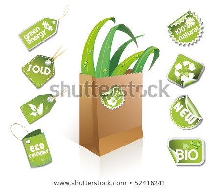eco · idee · stickers · business - stockfoto © Lota
