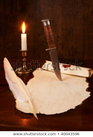 Dagger On Wood Stock photo © cosma
