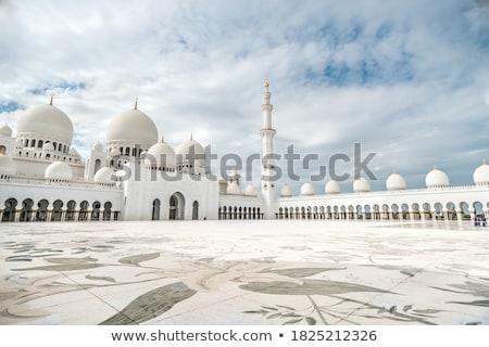 Abu Dhabi mecset gyönyörű belsőépítészet Egyesült Arab Emírségek építészet Stock fotó © bloodua