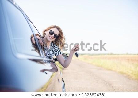 Pilote souriant séance voiture nouvelle voiture Photo stock © vladacanon