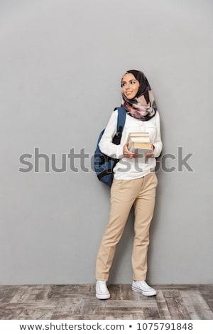 full teenage student standing stock photo © ambro