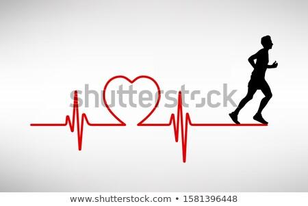 医療 · ハートビート · 心電図 · を実行して · 男 · 医師 - ストックフォト © designers