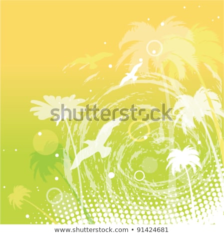 decorative silhouette circle birds of paradise stock photo © vectorflover