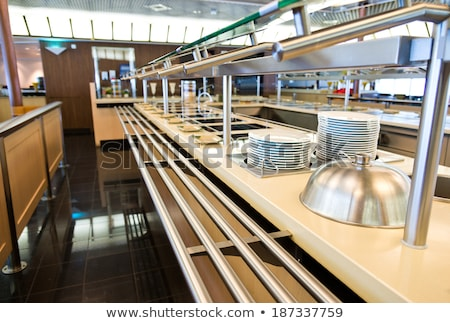 Neat interior of a commercial kitchen Stock photo © juniart