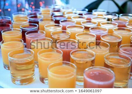 Catering drinks. Water, soda water, orange juice. Stock photo © dariazu