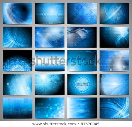 Tech geometry world map background Stock photo © saicle