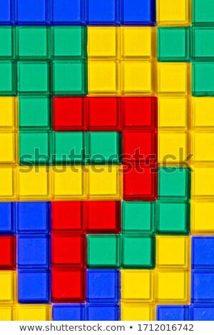 3D abstrato azulejos mosaico azul verde Foto stock © Melvin07
