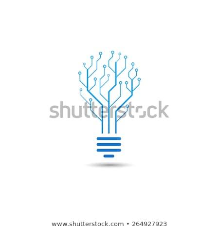 Diseño de logotipo tecnología de la información empresa ordenador oficina diseno Foto stock © Viva