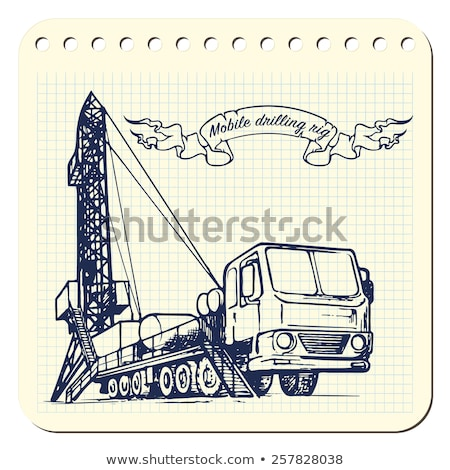oil exploration mobile drilling rig vehicle Stock photo © goce