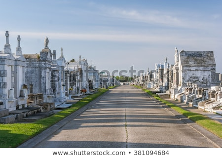 Lafayette cemetery in New Orleans with historic Grave Stones  Stock photo © meinzahn