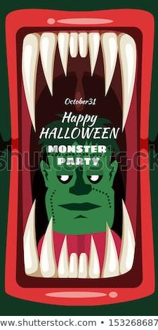 Sexy · Хэллоуин · вампир · рот · женщины · Поп-арт - Сток-фото © redkoala