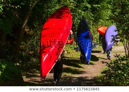 каноэ природного форт красный осень Сток-фото © PixelsAway