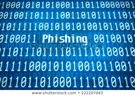Binary code with the word Phishing in the center stock photo © Zerbor