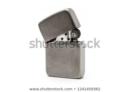 Isqueiro branco projeto metal fumar quente Foto stock © dekzer007