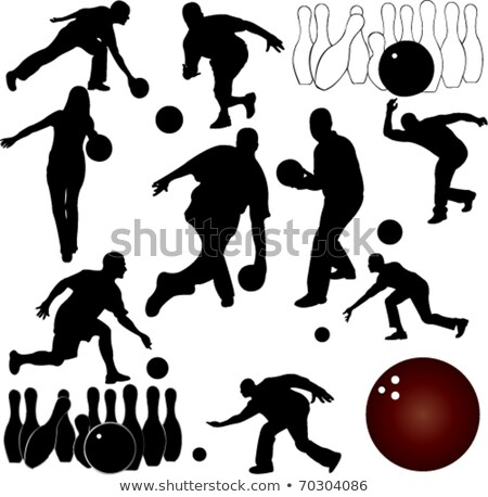 bowling silhouettes stock photo © Slobelix