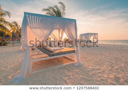 Playa mar relajante soleado turistas Foto stock © vrvalerian