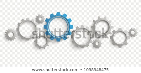 Stock photo: Gear system