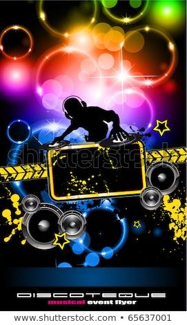 Attractive Club Disco Flyer background Stock photo © DavidArts