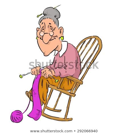 schommelstoel · geïsoleerd · witte · foto · stoel - stockfoto © norberthos
