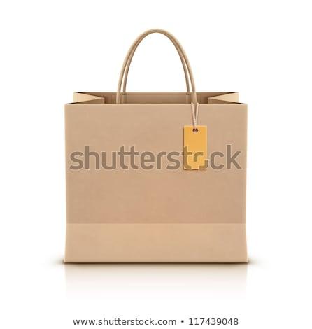 オレンジ 紙 ショッピングバッグ 木製 小売 ストア ストックフォト © stevanovicigor