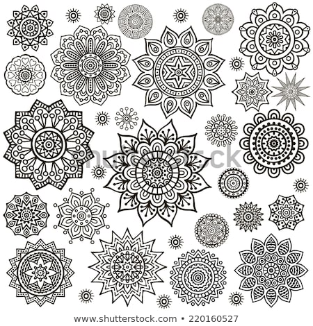 Round indian motifs Stock photo © morrmota