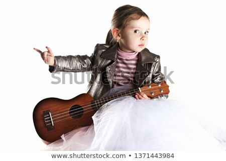 rock star girl on closeup Stock photo © Dave_pot