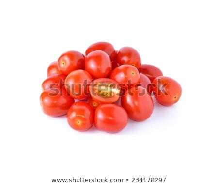 Organik kiraz domates hasat olgun kırmızı sarı Stok fotoğraf © searagen