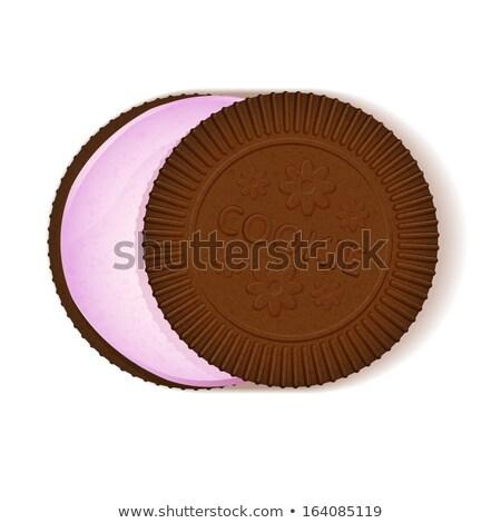 アイコン チョコレート クッキー クリーム 充填 芸術 ストックフォト © aliaksandra
