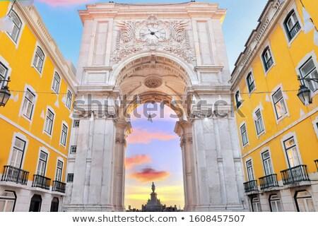 cuadrados · Lisboa · Portugal · ciudad · iglesia · viaje - foto stock © joyr