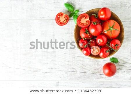 fresh cherry Tomato in bowl on white background Stock photo © supersaiyan3