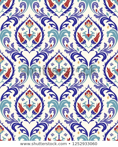 Seamless damask wallpaper pattern (Vector) Stock photo © Mr_Vector