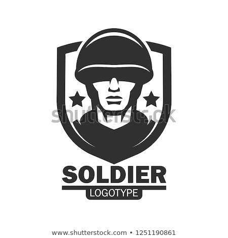 siyah · simgeler · ordu · askeri · savaş · uçak - stok fotoğraf © zelimirz