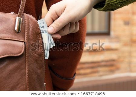 ceza · adam · kadın · çanta · sokak - stok fotoğraf © simazoran
