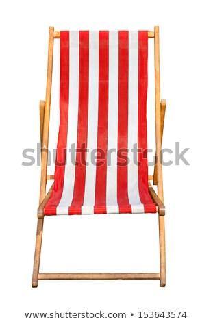 赤 デッキチェア 孤立した 白 庭園 椅子 ストックフォト © ozaiachin