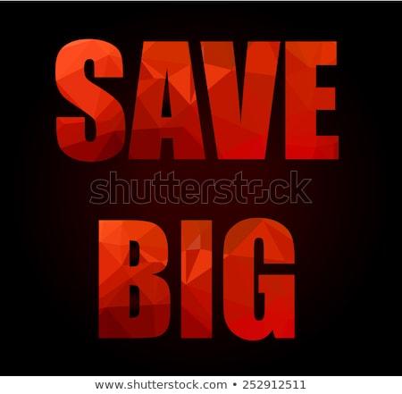 ビッグ 販売 スローガン 低い 手紙 ストックフォト © DavidArts