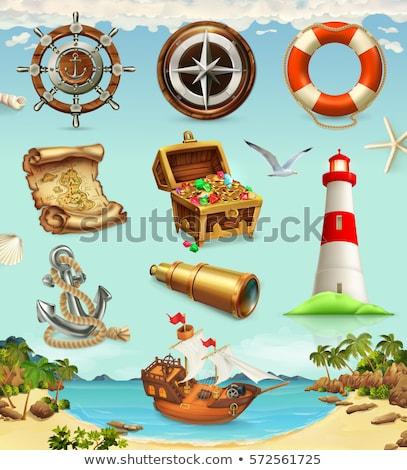 denizci · deniz · simgeler · yalıtılmış · beyaz · deniz - stok fotoğraf © konturvid
