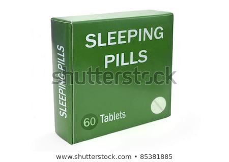 Curar depressão verde empacotar pílulas abrir Foto stock © tashatuvango