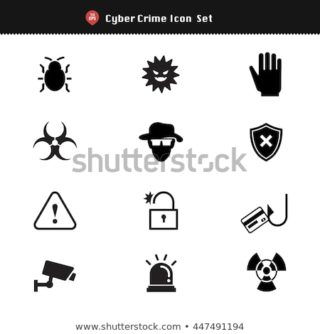 Computer Virus Protection - black and white Stock photo © cteconsulting