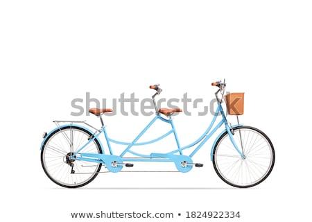 Tandem céu homem pôr do sol natureza bicicleta Foto stock © adrenalina