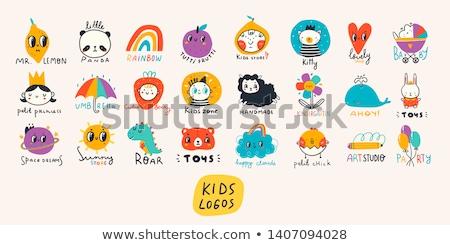 duży · zestaw · wektora · logos · rodziny · strony - zdjęcia stock © butenkow
